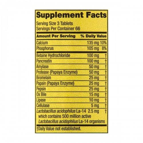 Spring Valley Probiotico Multienzima Formula Digestiva 200 Tabletas V3333 SPRING VALLEY