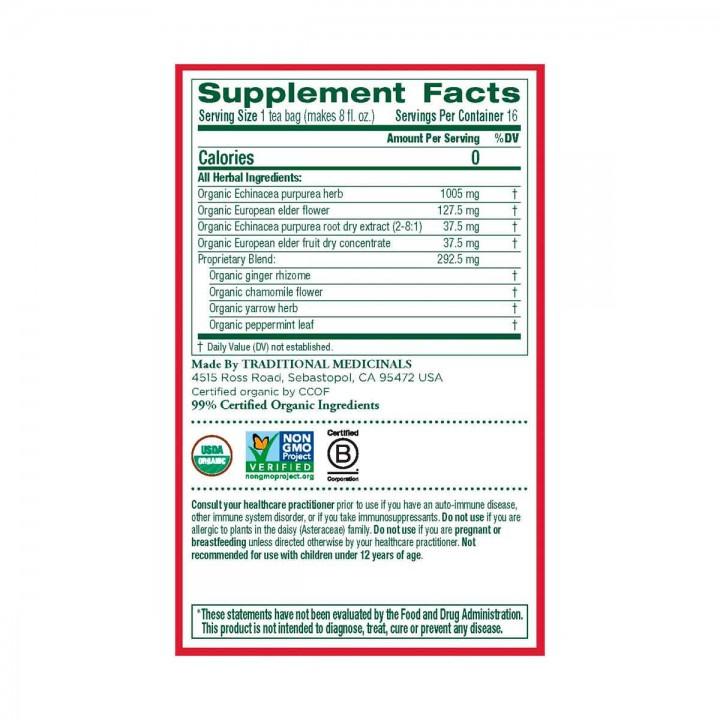 Echinacea Te Herbal Traditional Medicinals 16 Bolsitas T2084