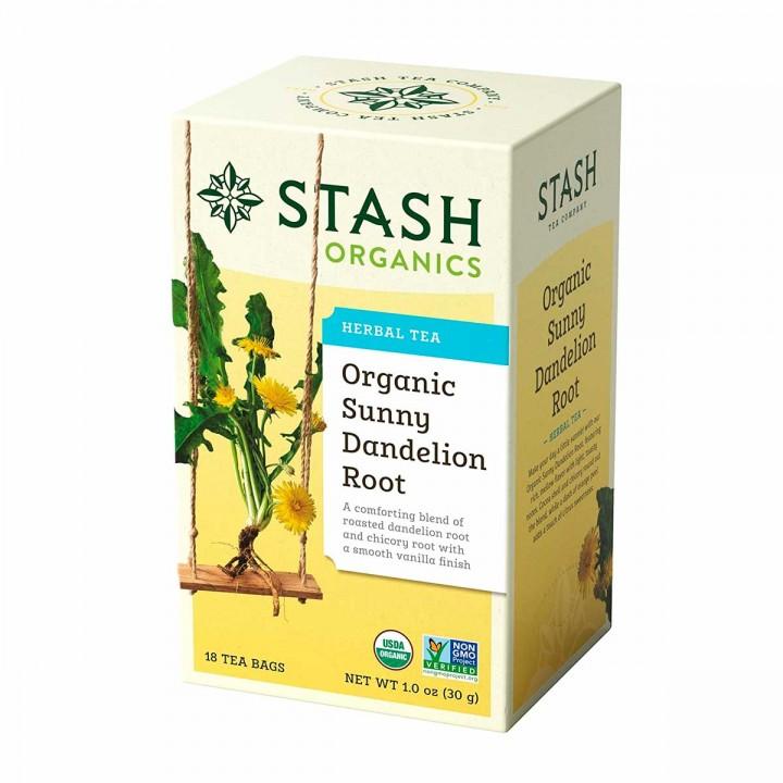Té STASH Organics Herbal Tea Sunny Dan Delion Root 18 Bolsitas 30g T2086 STASH