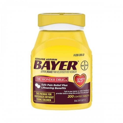Aspirina 325 mg Americana Bayer® 200 Tabletas V3004 Bayer