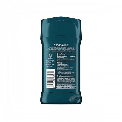 Desodorante Antitranspirante Degree Mens Motion Sense ADVENTURE Protección 48H en Seco 2.7 Onzas (76g) C1008 Degree
