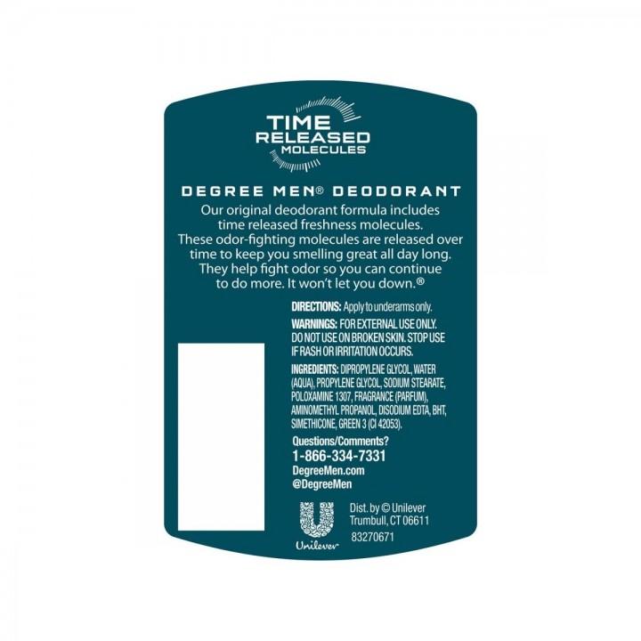 Desodorante Antitranspirante en Gel Men Degree ARCTIC EDGE Protección 48H 3 Onzas (85g) C1016 Degree