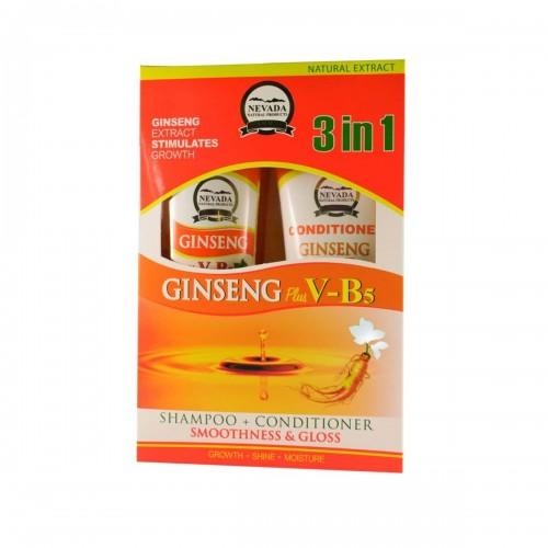 Nevada Kit Capilar Anti Caida de Shampoo + Acondicionador de Raiz de Ginseng 420 ml + 200 ml C1013 Nevada Natural Products