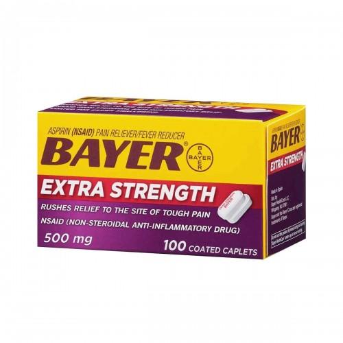 Aspirina 500 mg Americana Bayer® Extra Fuerza 100 Tabletas V3045 Bayer