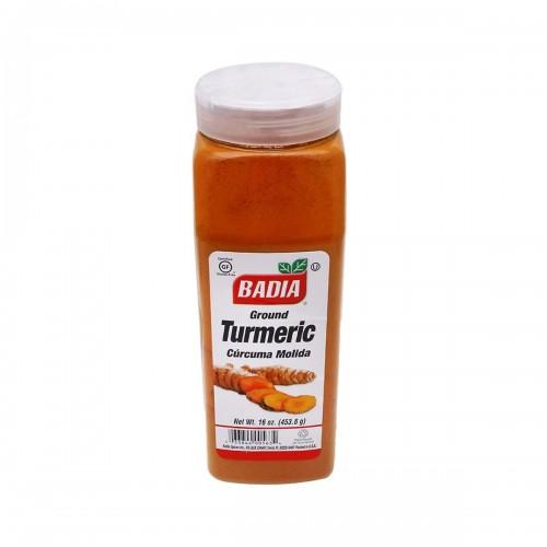 Curcuma Molida (Ground Turmeric) BADIA Gluten Free 16 Oz. (453.6 g) D1102 BADIA