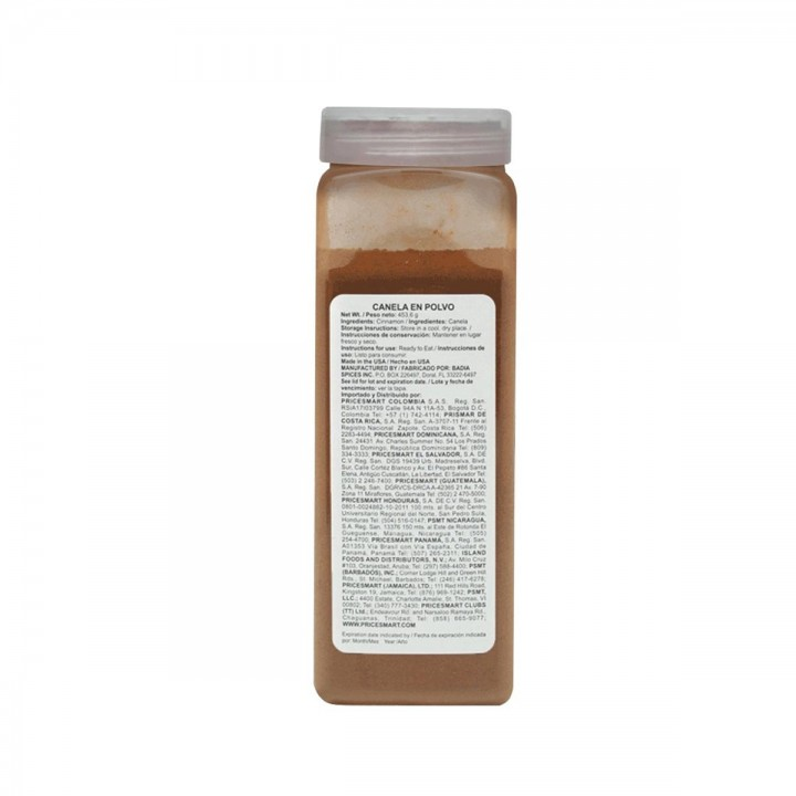 Canela en Polvo (Cinnamon Powder) Badia Gluten Free 16 oz. (453,6 g) D1103 Badia