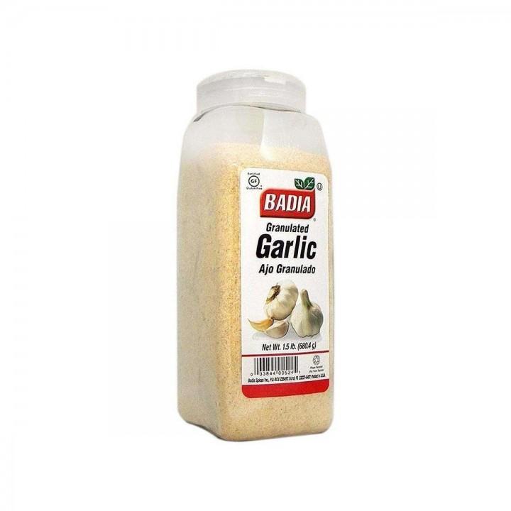 Ajo Granulado (Granulated Garlic) Badia Gluten Free 1.5 lb. (680.4 g) D1105 Badia