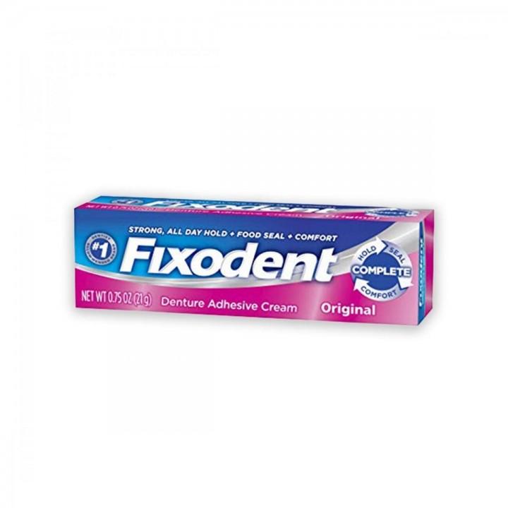 Crema Adhesiva Para Dentaduras Postizas Fixodent Original 0.75 oz (21 g) C1019 FIXODENT