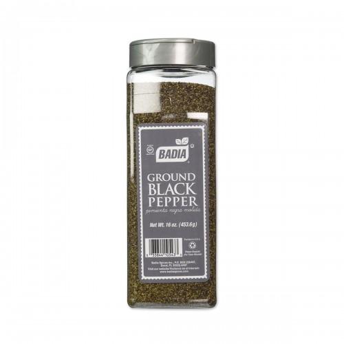 Pimienta Negra Molida (Ground Black Pepper) Badia Gluten Free 16 oz (453.6g)