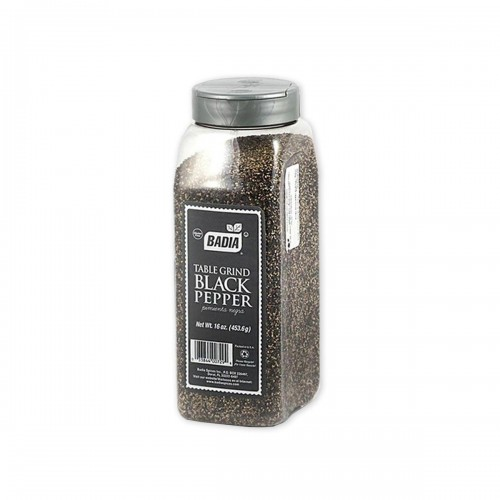 Pimienta Negra Molida (Ground Black Pepper) Badia Gluten Free 16 oz (453.6g) D1106 BADIA