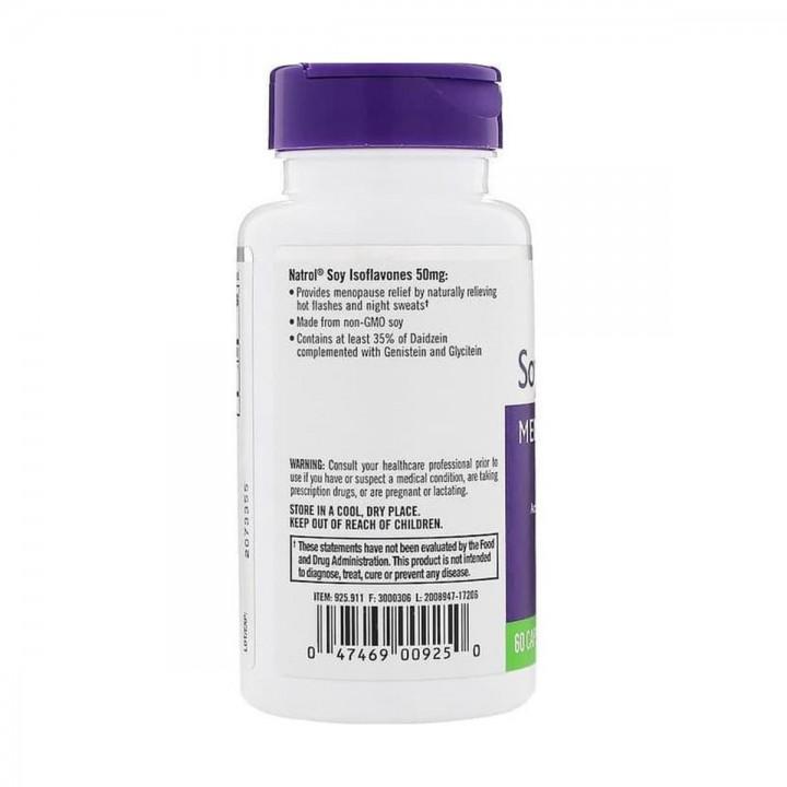 Natrol Isoflavones de Soya Alivio de la Menopausia 50 mg 60 capsulas V3156 Natrol