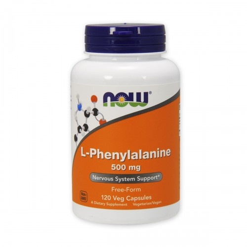 L-Phenylalanine - L-Fenilalanina - 500 mg Apoyo del Sistema Nervioso Now Foods 120 Capsulas Vegetales V3068 Now Nutrition for...