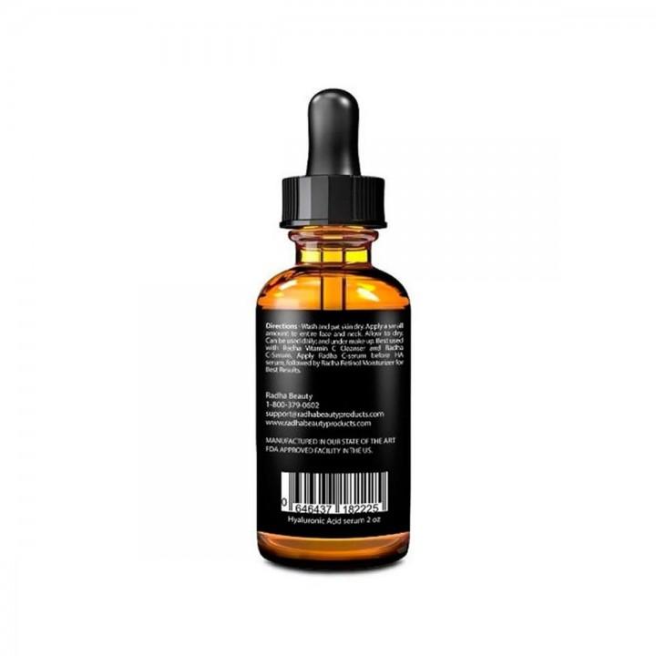 RADHA BEAUTY SkinCare Suero de Acido Hialuronico Vitamina C,E,Te Verde y Aceite de Jojoba 2 Fl oz (60 ml) C1107 Radha Beauty