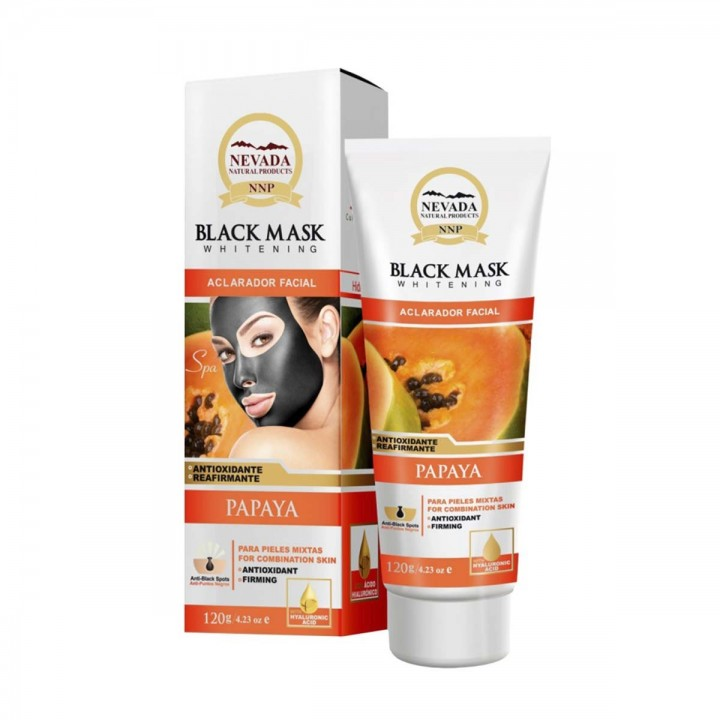 Nevada Mascarilla Black Mask de Papaya Aclarador Facial Exfoliante Energizante 120 g