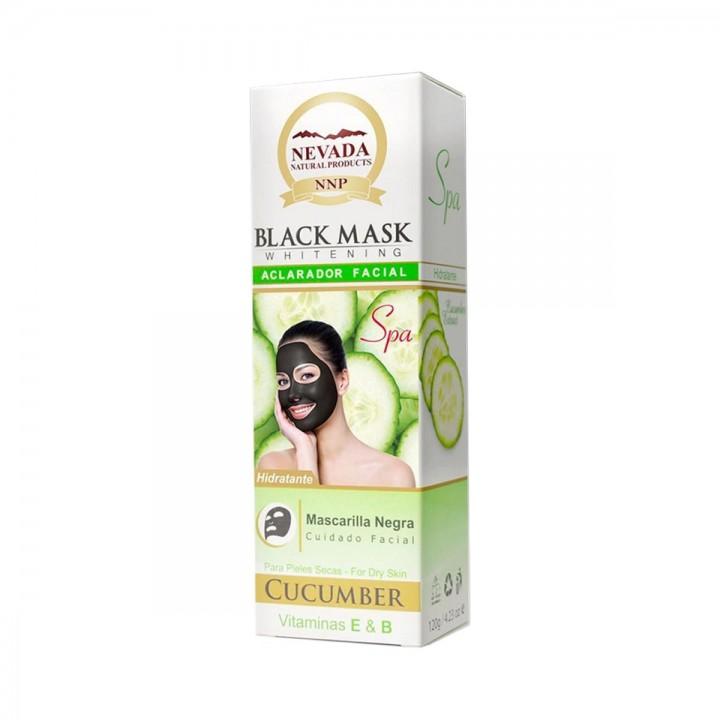 Nevada Mascarilla Black Mask de Pepino Aclarador Facial Hidratante 120g