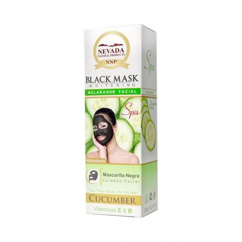 Nevada Mascarilla Black Mask de Pepino Aclarador Facial Hidratante 120g C1028 Nevada Natural Products