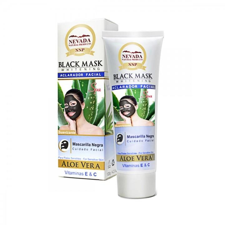 Nevada Mascarilla Black Mask de Aloe Vera Aclarador Facial Suavizante 120g