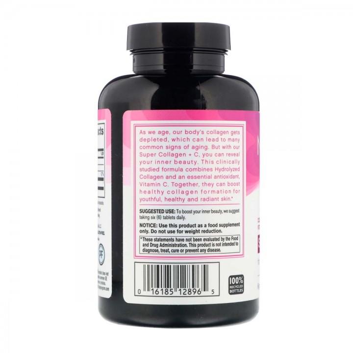Neocell Super Colageno 6.000 mg Tipo 1 y 3 + Vitamina C 60 mg 250 Tabletas V3011 Neocell