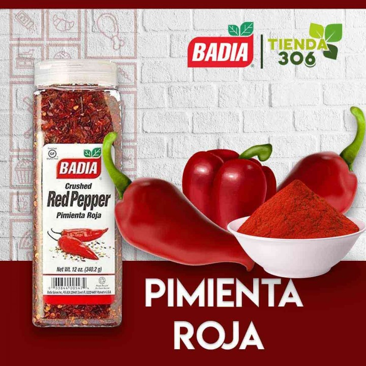 Red Pepper Pimienta Roja en Escamas Badia Spices Gluten Free 12 Oz (340.2 G) D1112 BADIA