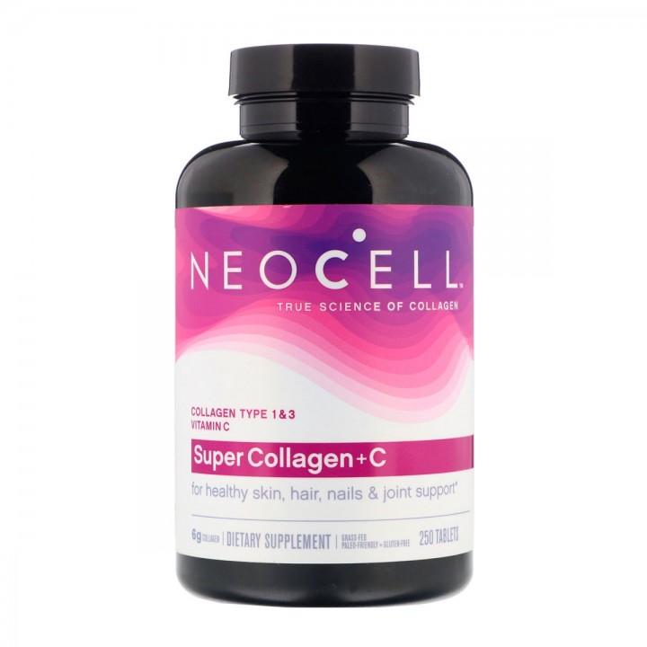 Neocell Super Colageno 6.000 Mg Tipo 1 Y 3 + Vitamina C 60 Mg 250 Tabletas - Tienda 306