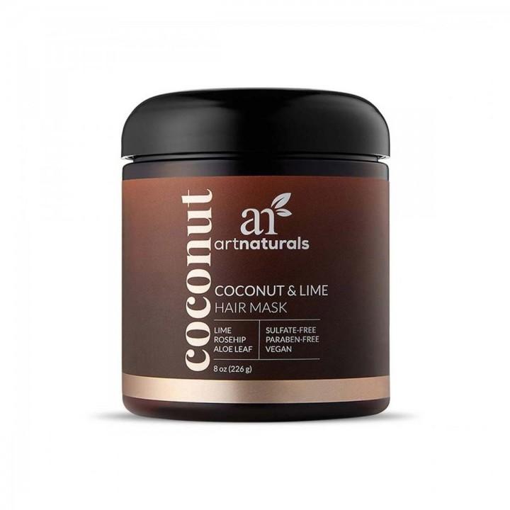 ArtNatural Mascara para el Cabello Coco y Lima con Hoja de Aloe 8 oz (226 g) C1034 ArtNaturals