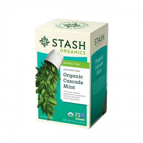 Te STASH Organic Cascade Mint Herbal Tea Caffeine-Free 18 Bolsitas 18 g T2042 STASH