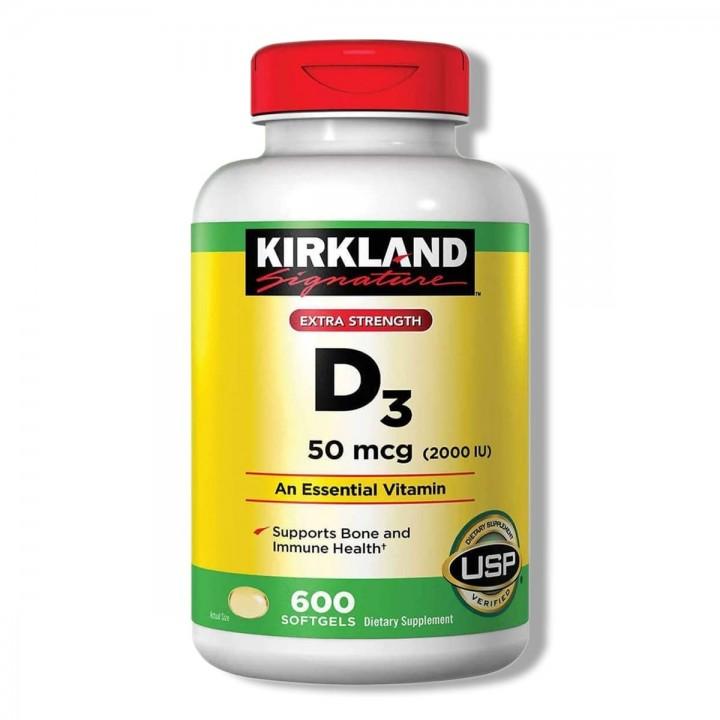 Kirkland Vitamina D3 50 Mcg Reduce el riesgo de osteoporosis Tienda 306