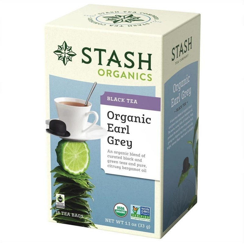 Te STASH Organic Earl Grey Black & Green Tea 18 Bolsitas 33 g T2041 STASH