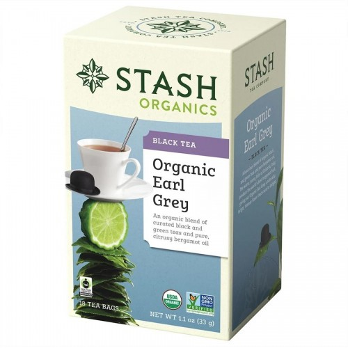 Te STASH Organic Earl Grey Black & Green Tea 18 Bolsitas 33 g