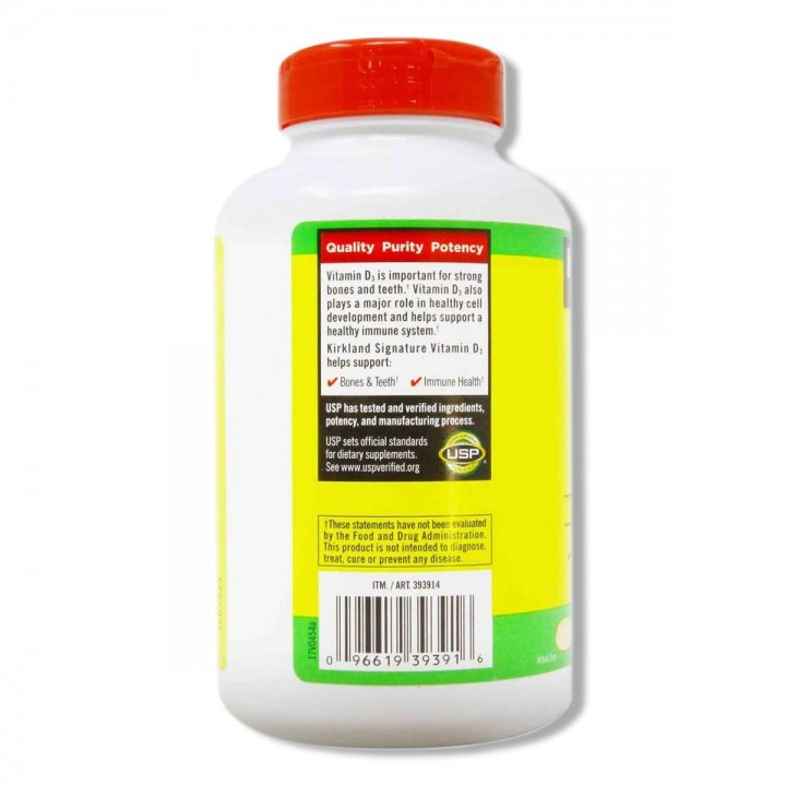 Kirkland Vitamina D3 50 mcg (2000 IU) 600 Capsulas Blandas V3006 Kirkland Signature