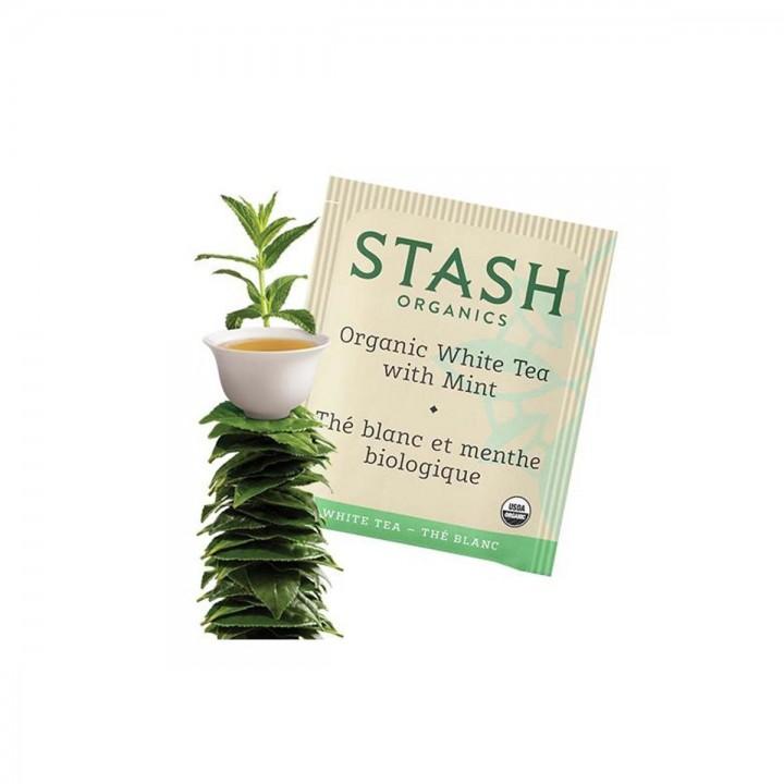 Te STASH Organic White Tea With Mint 18 Bolsitas 24 g T2043 STASH