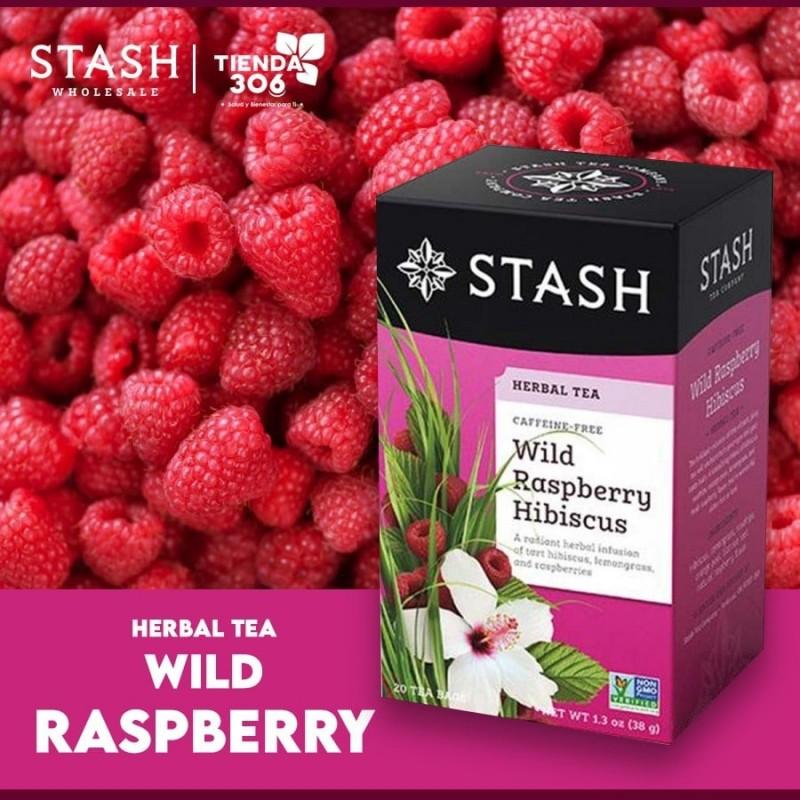 Te STASH Herbal Tea Caffeine Free Wild Raspberry Hibiscus 20 Bolsitas 38 g T2046 STASH