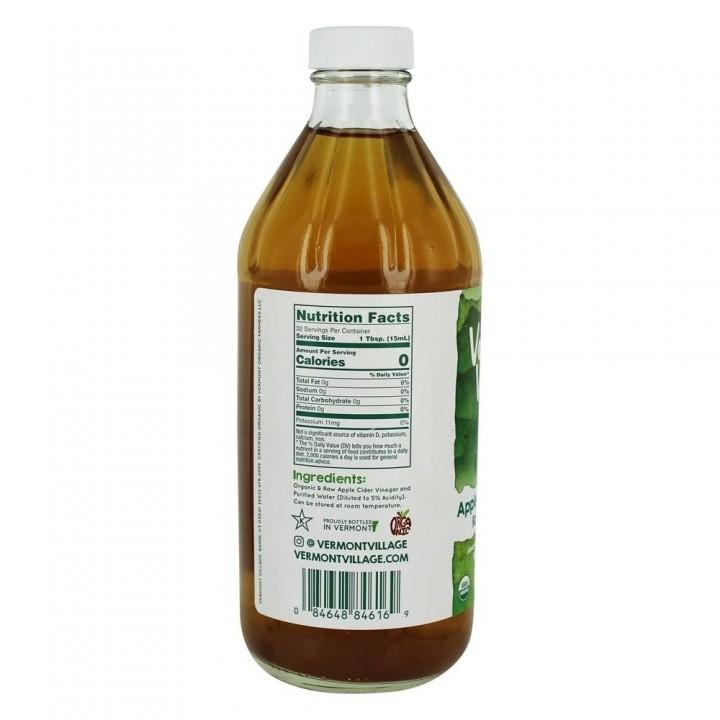 Vinagre de Sidra de Manzana Vermont Village Fuente de Vitamina A y C Tienda 306