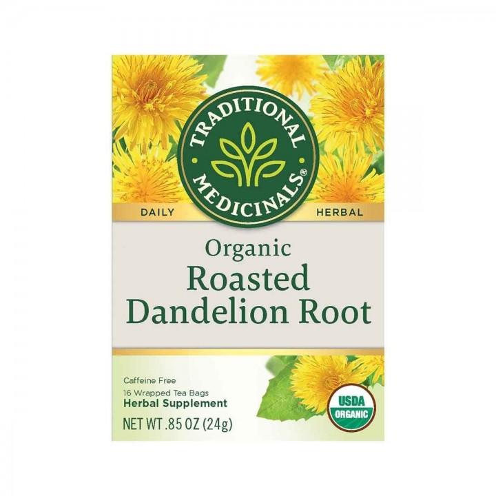 Te de Raíz de Diente de León Asado Organico Traditional Medicinals Herbal Teas 16 Bolsitas 85 oz. (24g) T2057 Traditional Med...