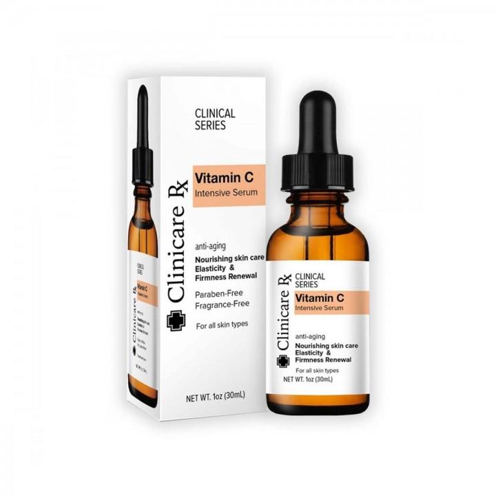 Vitamina C Suero Intensivo Clinicare Rx Anti-Edad Nutrición y Firmeza para la Piel 1 Oz (30 ml) C1040 Clinicare Rx