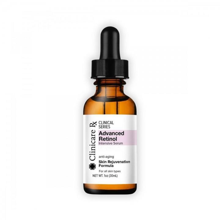 Retinol Avanzado Suero Intensivo Clinicare Rx Anti-Edad Suavizante para la Piel 1 Oz (30 ml) C1041 Clinicare Rx