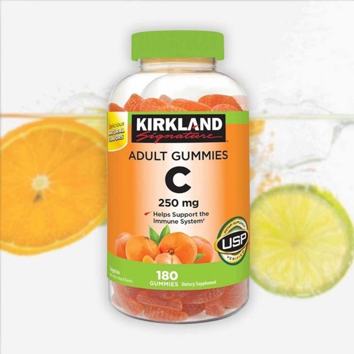 Vitamina C Kirkland Signature 250 mg Para Adultos 180 Gomas V3183 Kirkland Signature