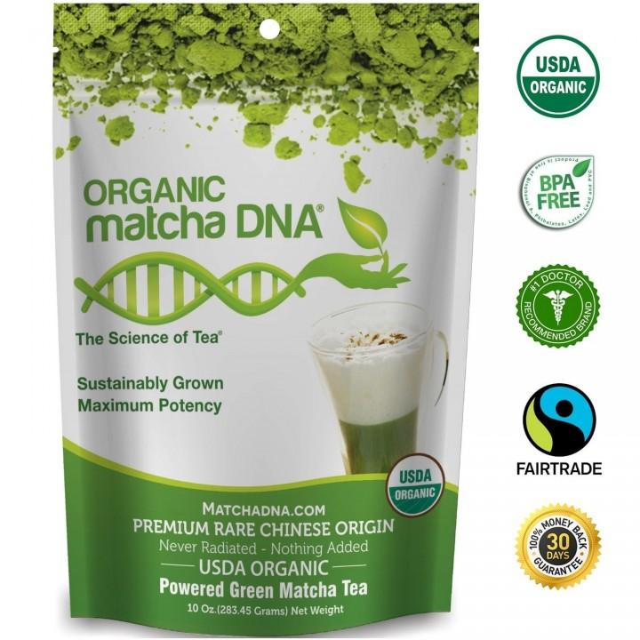 Te Verde Matcha Orgánico DNA en Polvo 10 oz. (283.45 g) T2058 Matcha DNA