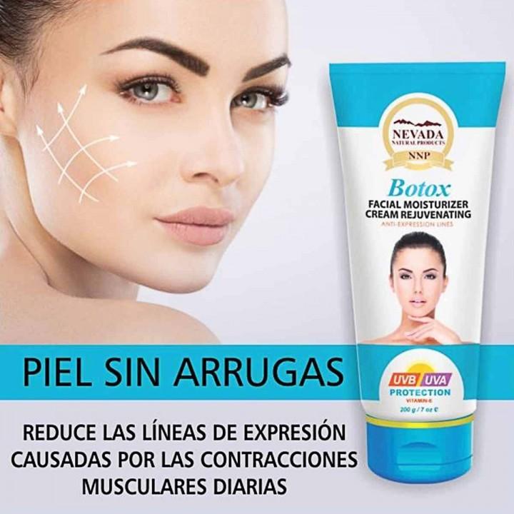 Crema Facial Rejuvencedora Botox Nevada Natural Products Proteccion UVB y UVA con Vitamina E / 200 g C1059 Nevada Natural Pro...