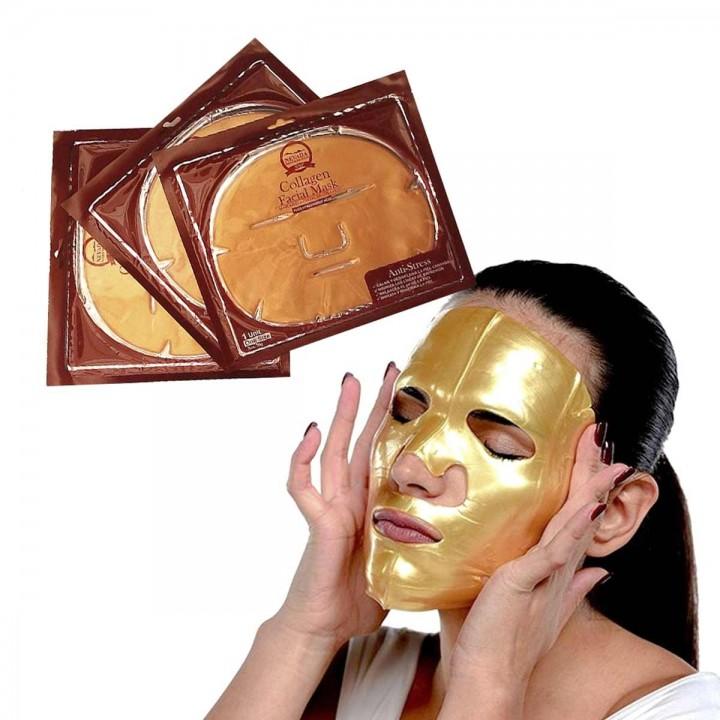 Mascarilla Facial de Colageno Nevada Natural Products Anti-Stress Caja X 10 Unidades C1063 Nevada Natural Products