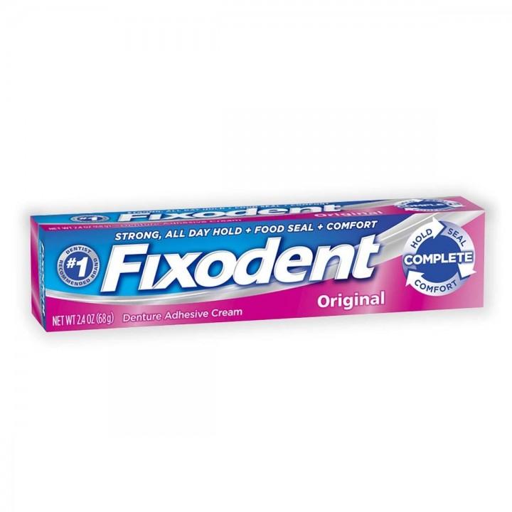 Crema Adhesiva Para Dentaduras Postizas Fixodent Original 2.4 oz (68 g) C1073 FIXODENT