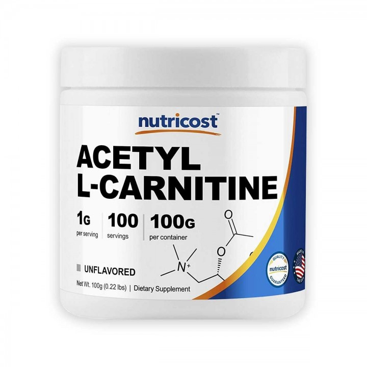 Nutricost Acetyl L-Carnitine 100g Libre de gluten Tienda 306