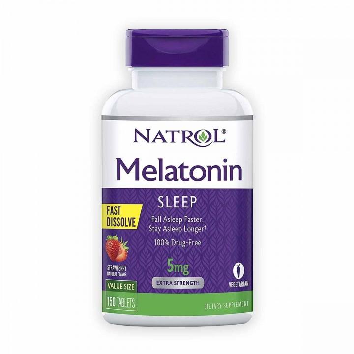 Natrol Melatonin Sueño Prolongado Sabor A Fresa Tienda 306