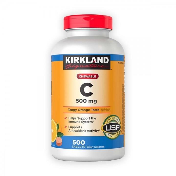 KIRKLAND Vitamina C con Sodio 35 mg Masticable 500 Tabletas V3094 Kirkland Signature
