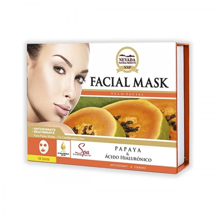Velo Facial de Papaya y Acido Hialuronico Nevada Natural Products Caja 10 uds x 30 g C1082 Nevada Natural Products