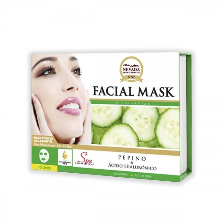 Velo Facial de Pepino y Ácido Hialurónico Nevada Natural Products Caja 10 uds x 30 g C1074 Nevada Natural Products