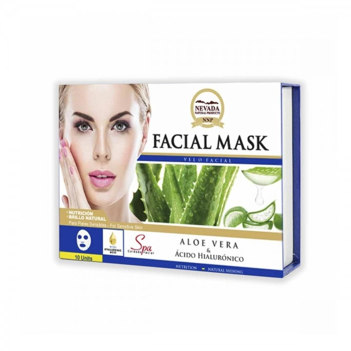 Velo Facial de Aloe Vera y Acido Hialuronico Nevada Natural Products Caja 10 uds x 30 g C1075 Nevada Natural Products