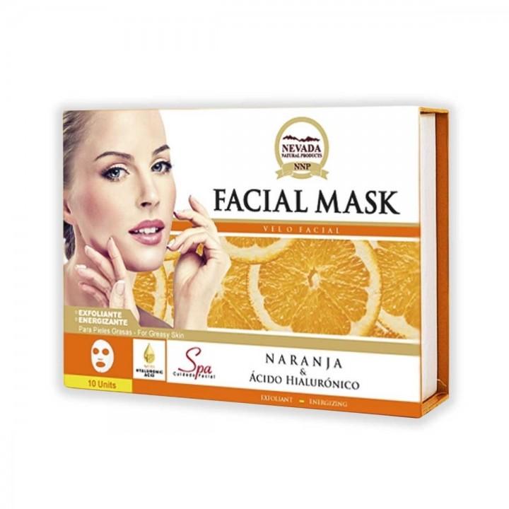 Velo Facial de Naranja y Acido Hialuronico Nevada Natural Products Caja 10 uds x 30 g C1076 Nevada Natural Products
