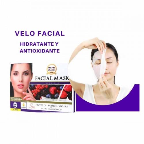 Velo Facial de Frutos del Bosque - Yogurt y Ácido Hialurónico Nevada Natural Products Caja 10 uds x 30 g C1078 Nevada Natural...