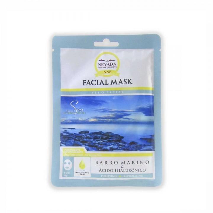 Velo Facial de Barro Marino y Acido Hialuronico Nevada Natural Products Caja 10 uds x 30 g C1077 Nevada Natural Products